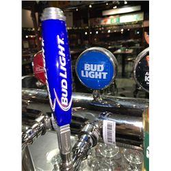Lot of 2 beer tap handle & display plaque - Bud Light