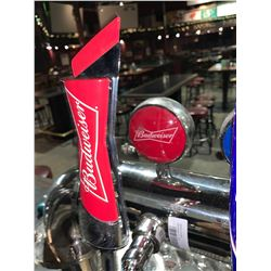 Lot of 2 beer tap handle & display plaque - Budweiser