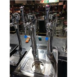 Double Beer tap dispensing head molson canadian & coors
