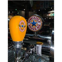 Lot of 2- Beer handle & display Plaque - Newcastle brown ale