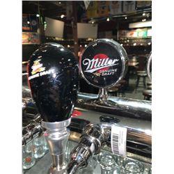 Lot of 2- Beer handle & display Plaque - Miller Genuine Draft