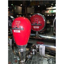 Lot of 2- Beer handle & display Plaque - Rickards Red