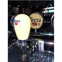 Lot of 2- Beer handle & display Plaque - Coors