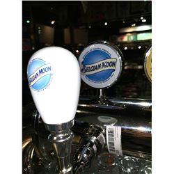 Lot of 2- Beer handle & display Plaque - Belgian Moon