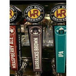 Beer Tap Handle - Wildrose Brewery Barracks Brown