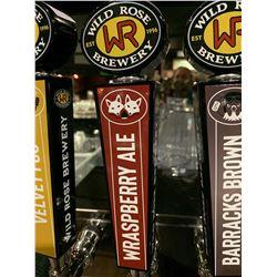 Beer Tap Handle - Wildrose Brewery Wraspberry Ale
