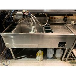Stainless 4 foot cocktail sink with inserts ( does not include dispensing equipment) 