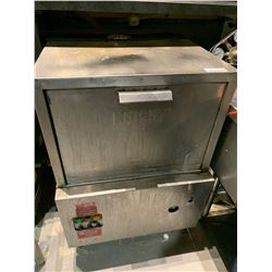 Knight Stainless Glass Washer.  LL DISCONNECTIONS MUST BE COMPLETED BY LICENSED TRADE PERSONS PRIOR