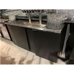 Micro Matic Model MDD-68 Double Door 8 head Beer Keg refrigerated Dispenser NOT