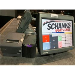 Micros POS Touch Terminal with power supply and Epson Printer