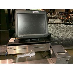 Micros POS Touch Terminal with power supply, cash drawer and epsonprinter