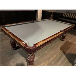 Dufferinexecutive solid wood with leather pockets pool table Buyer is responsible for all removal an