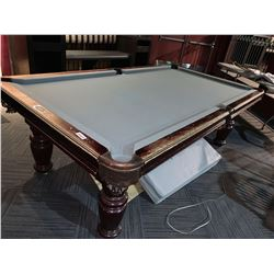 Dufferin executive solid wood with leather pockets pool table Buyer is responsible for all removal a