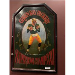 Greenbay packers wooden sign