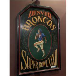 Denver Broncos wood sign