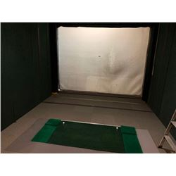 Indoor Driving Range - includes back stop screen & removable turf