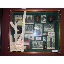 Shadow box golf display ( broken glass)