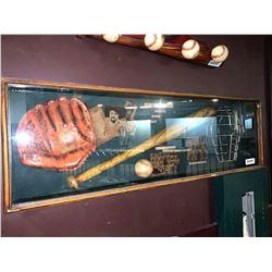 Shadow box vintage baseball display