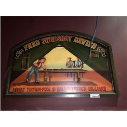 Fred sureshot Davies signage