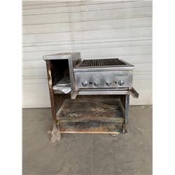 Imperial 24 inch charbroiler on stand Pick Up Location is Auction Depot 4215-1