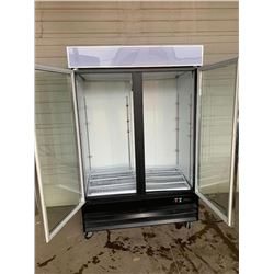 Double glass door beverage cooler  Pick Up Location is Auction Depot 4215-11 st