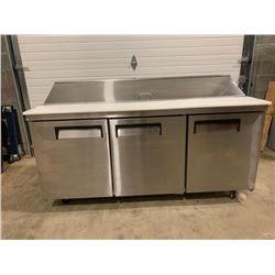 Stainless 3 door 72 inch sandwich service unit  Pick Up Location is Auction Depot