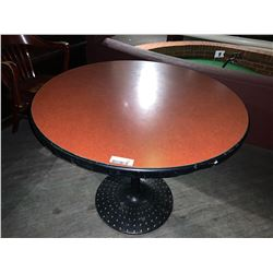 Round Single Pedestal Restaurant table - 34 inches, metal base