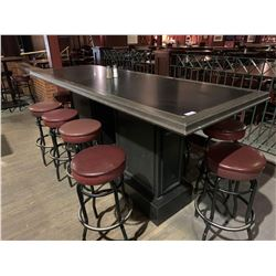 Grey Rectangular bar Table - 34 x 96 inches