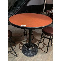 Round Upright single pedestal Bar Table - 36 inches