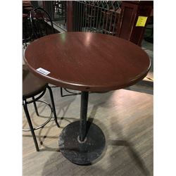 Round Upright single pedestal Bar Table - 30 inches
