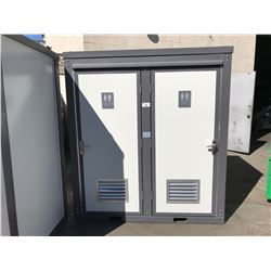 BRAND NEW BASTONE PORTABLE MOBILE DOUBLE TOILET, WITH TWO TOILETS AND TWO SINKS