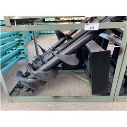 GREATBEAR BRAND NEW SKID STEER AUGER ATTACHMENT WITH 3 LARGE AUGERS