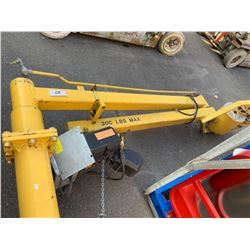 LASEC LASN REMOTE OPERATED 300 LBS JIB CRANE WITH ZIM-AIR AIR ACTUATED CABLE HOIST