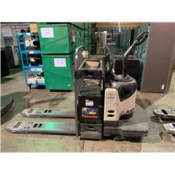 """CROWN 4500 SERIES 48"""" FORK RIDE ON ELECTRIC PALLET MOVER WITH BATTERY-MATE 100 510M1-12G CHARGER"""