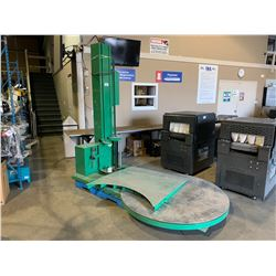 GREEN PREDATOR SS SIMPLIFIED STRETCH INDUSTRIAL PALLET WRAPPER WITH RAMP