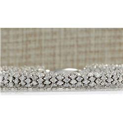 14.00 CTW Natural Diamond Bracelet In 18K Solid White Gold