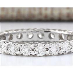 2.00 CTW Natural Diamond Ring In 18K White Gold