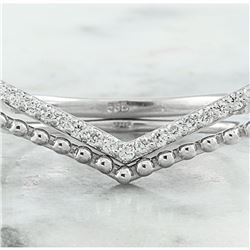 0.20 CTW Diamond 18K White Gold Ring