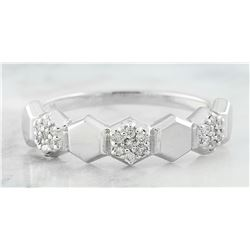 0.10 CTW Diamond 18K White Gold Ring