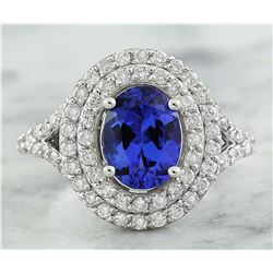 2.48 CTW Tanzanite 14K White Gold Diamond ring
