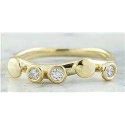0.20 CTW 14K Yellow Gold Diamond Ring