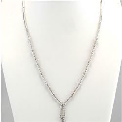 3.00 CTW Natural Diamond Necklace In 18K White Gold