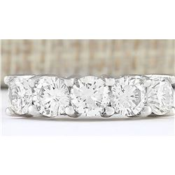2.56 CTW Natural Diamond Ring 14k Solid White Gold