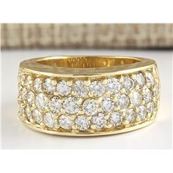 1.85 CTW Natural Diamond Ring 14k Solid Yellow Gold