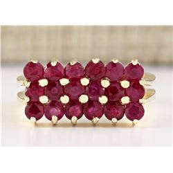 2.69 CTW Natural Ruby Ring In 18K Yellow Gold