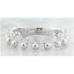 0.40 CTW Diamond 18K White Gold Bubble Ring