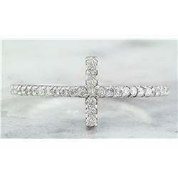 0.30 CTW 18K White Gold Diamond Ring