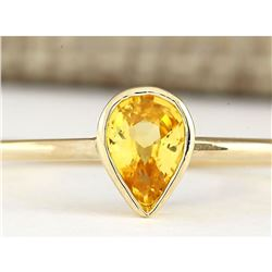 0.52 CTW Natural Yellow Sapphire Ring In 14k Yellow Gold