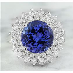 4.88 CTW Tanzanite 14K White Gold Diamond Ring