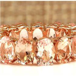 11.10 CTW Natural Morganite Ring In 14k Rose Gold